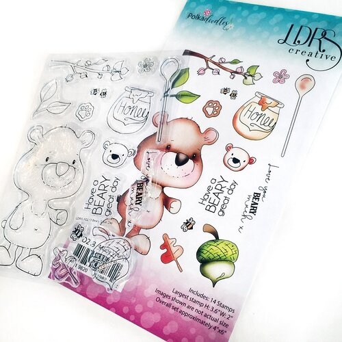 LDRS Creative - Polkadoodles Collection - Clear Photopolymer Stamps - Beary Great Day