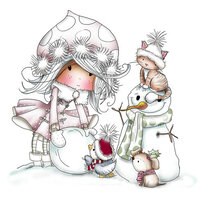 LDRS Creative - Clear Photopolymer Stamps - Let's Make a Snowman - Winnie