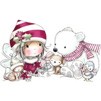 LDRS Creative - Clear Photopolymer Stamps - Christmas Friends - Winnie
