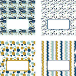 LDRS Creative - Splendid Azure Collection - Cardstock Stickers - Tabs