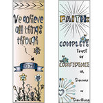 LDRS Creative - Inspired Edge Collection - Cling Mounted Rubber Stamps -Faith
