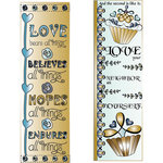 LDRS Creative - Inspired Edge Collection - Cling Mounted Rubber Stamps - Love