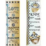 LDRS Creative - Inspired Edge Collection - Cling Mounted Rubber Stamps -Love
