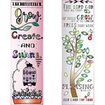 LDRS Creative - Inspired Edge Collection - Cling Mounted Rubber Stamps - Grow