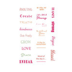 LDRS Creative - Soft Blush Collection - Cardstock Stickers - Quick Words