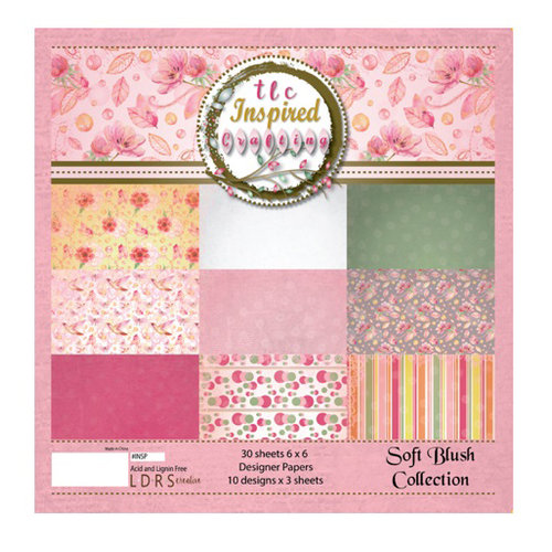 LDRS Creative - Soft Blush Collection - 6 x 6 Paper Pack
