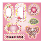 LDRS Creative - Soft Blush Collection - Die Cut Cardstock Pieces with Glitter Accents