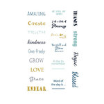 LDRS Creative - Splendid Azure Collection - Cardstock Stickers - Quick Words