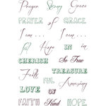 LDRS Creative - Cling Mounted Rubber Stamps - Faith and Grace