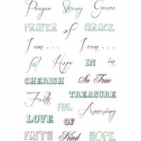 LDRS Creative - Cling Mounted Rubber Stamps -Faith and Grace