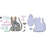 LDRS Creative - Designer Dies and Clear Acrylic Stamps - Claw-dia Cat