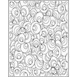 LDRS Creative - Cling Mounted Rubber Stamps - Mod Swirls Background