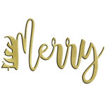 LDRS Creative - Christmas - Designer Dies - Merry Word