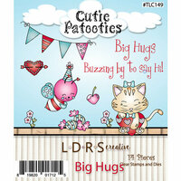 LDRS Creative - Designer Dies and Clear Acrylic Stamps - Big Hugs