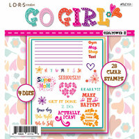 LDRS Creative - Designer Dies and Clear Acrylic Stamps - Girl Power II