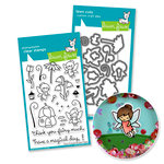 Lawn Fawn - Die and Acrylic Stamp Set - Fairy Friends Bundle