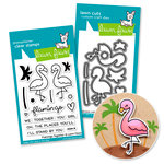 Lawn Fawn - Die and Acrylic Stamp Set - Flamingo Together Bundle