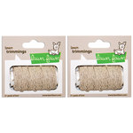 Lawn Fawn - Lawn Trimmings - Hemp Cord Spool - Natural - 2 Pack Set
