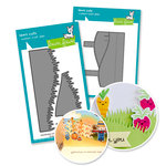 Lawn Fawn - Die Set - Stitched Hillside Pop Up with Grass add-on - Cardmaking Bundle