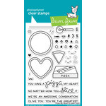 Lawn Fawn - Clear Acrylic Stamps - Pizza My Heart