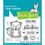 Lawn Fawn - Clear Acrylic Stamps - Stinkin' Cute