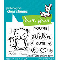Lawn Fawn - Clear Photopolymer Stamps - Stinkin' Cute