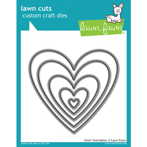 Lawn Fawn - Lawn Cuts - Dies - Heart Stackables