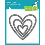 Lawn Fawn - Lawn Cuts - Dies - Stitched Heart Stackables