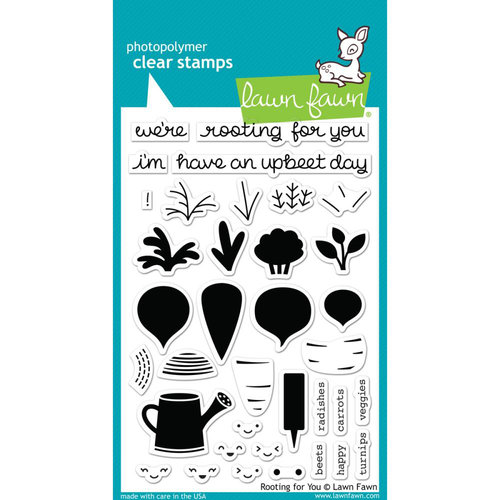 Lawn Fawn - Clear Acrylic Stamps - Rooting for You