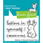 Lawn Fawn - Clear Acrylic Stamps - Believe in Yourself