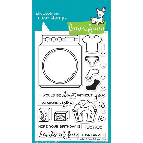 Lawn Fawn - Clear Acrylic Stamps - Loads of Fun