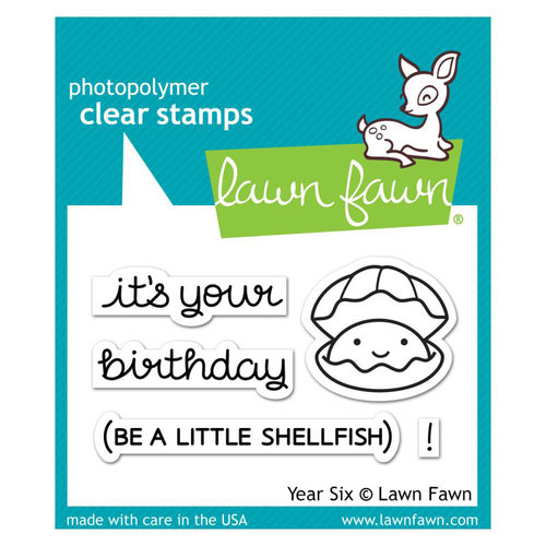 Lawn Fawn - Clear Photopolymer Stamps - Year Six
