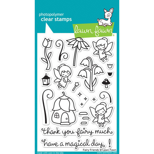 Lawn Fawn - Clear Photopolymer Stamps - Fairy Friends