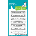 Lawn Fawn - Clear Acrylic Stamps - Ready, Set, Shake