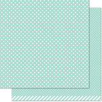 Lawn Fawn - Let's Polka in the Meadow Collection - 12 x 12 Double Sided Paper - Dew Drop Polka