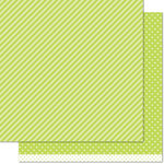 Lawn Fawn - Let's Polka in the Meadow Collection - 12 x 12 Double Sided Paper - Grasshopper Line Dance