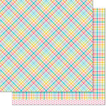 Lawn Fawn - Perfectly Plaid Collection - 12 x 12 Double Sided Paper - Jessica