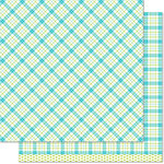 Lawn Fawn - Perfectly Plaid Collection - 12 x 12 Double Sided Paper - Ivy