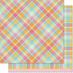 Lawn Fawn - Perfectly Plaid Collection - 12 x 12 Double Sided Paper - Nadia