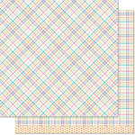 Lawn Fawn - Perfectly Plaid Collection - 12 x 12 Double Sided Paper - Kristin
