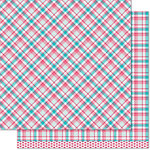 Lawn Fawn - Perfectly Plaid Collection - 12 x 12 Double Sided Paper - Lynette