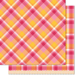 Lawn Fawn - Perfectly Plaid Collection - 12 x 12 Double Sided Paper - Nicole