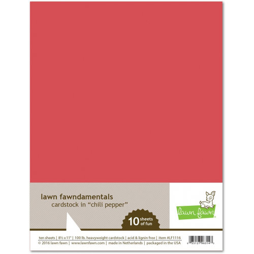 Lawn Fawn - 8.5 x 11 Cardstock - Chili Pepper - 10 Pack
