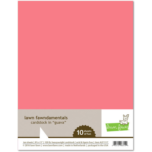 Lawn Fawn - 8.5 x 11 Cardstock - Guava - 10 Pack