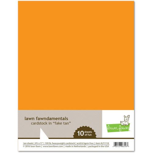 Lawn Fawn - 8.5 x 11 Cardstock - Fake Tan - 10 Pack