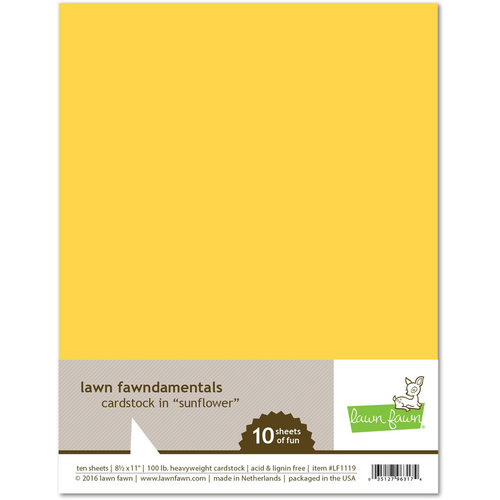 Lawn Fawn Sunflower Cardstock