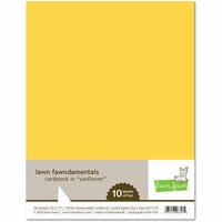 Lawn Fawn - 8.5 x 11 Cardstock - Sunflower - 10 Pack