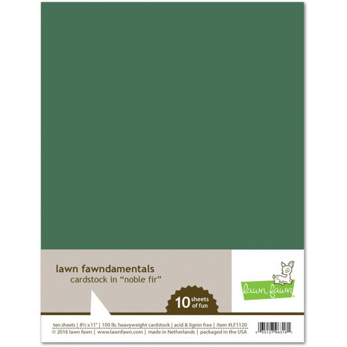 Lawn Fawn - 8.5 x 11 Cardstock - Noble Fir - 10 Pack