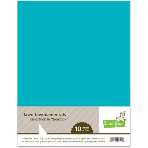 Lawn Fawn - 8.5 x 11 Cardstock - Peacock - 10 Pack