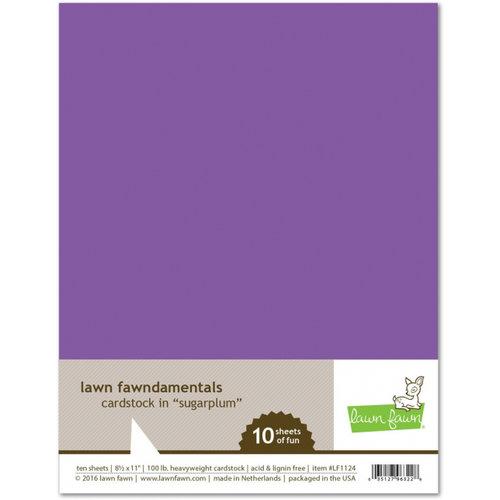 Lawn Fawn - 8.5 x 11 Cardstock - Sugarplum - 10 Pack